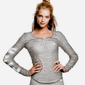 VS PINK Cute Grey Thermal Top, size S